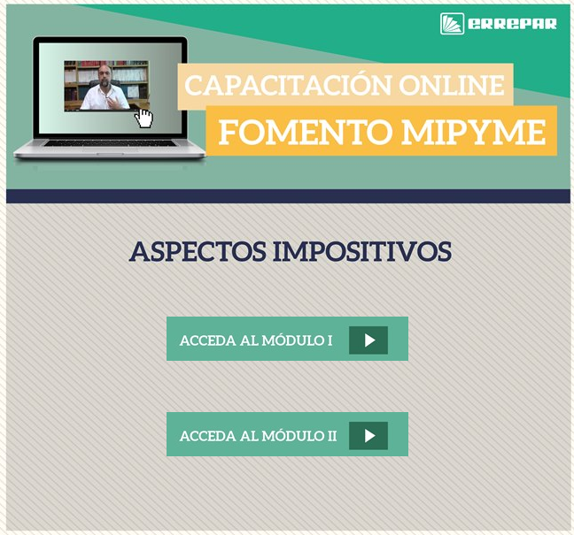 VIDEOS DE CAPACITACIÓN ONLINE: para incorporar conocimientos de manera virtual.