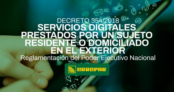 DECRETO 354/2018 Servicios Digitales