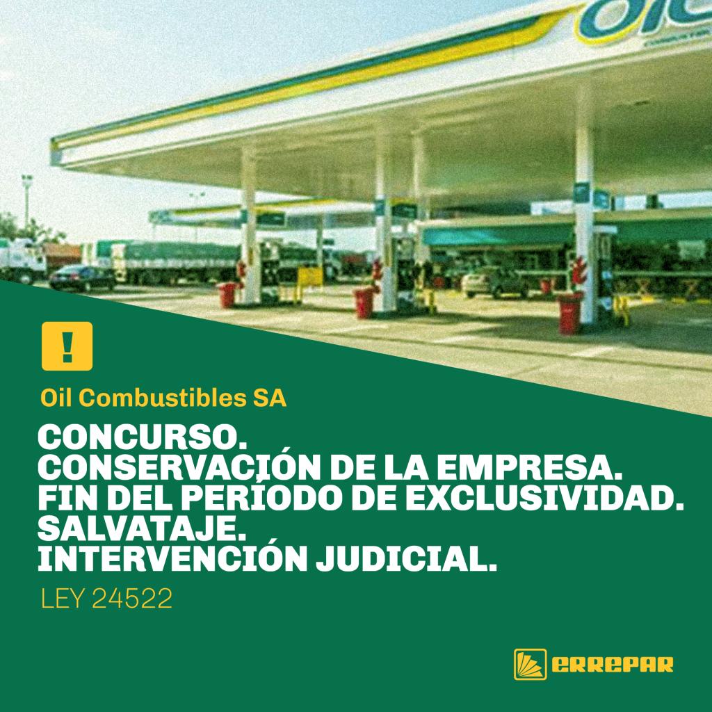 CONCURSO. CONSERVACIÓN DE LA EMPRESA. FIN DEL PERÍODO DE EXCLUSIVIDAD. SALVATAJE. INTERVENCIÓN JUDICIAL
