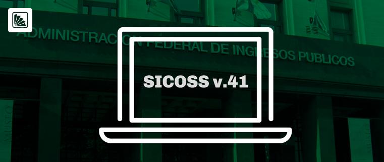 SICOSS, versión 41. Publicación de las nuevas tablas