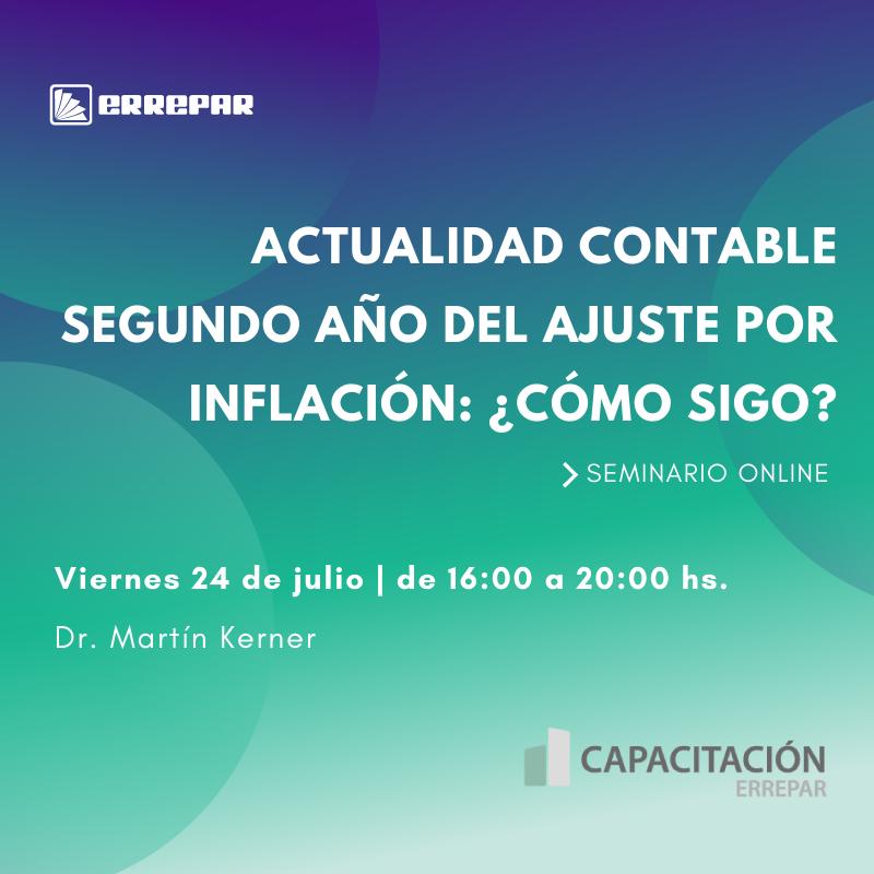 capacitación ajuste por inflación contable errepar
